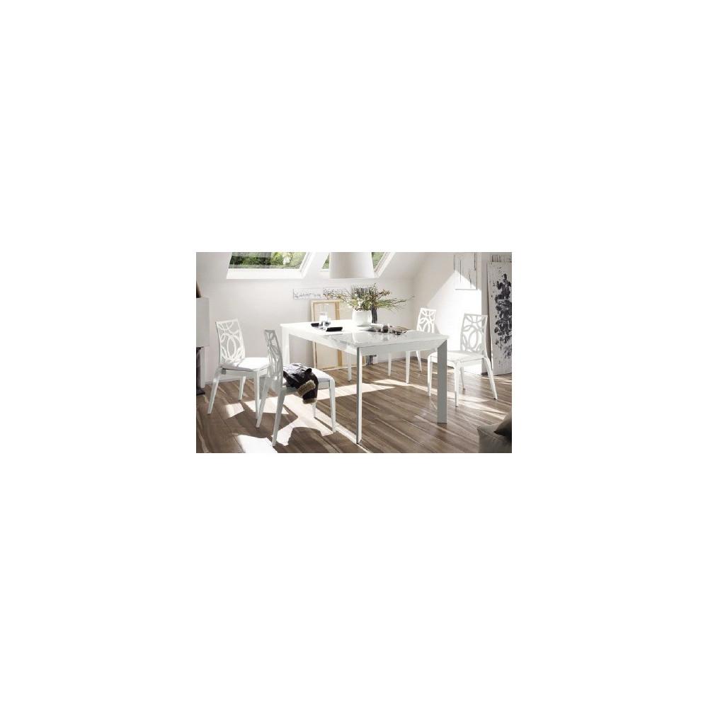 table de salle a manger moderne blanche sal diff rentes dimensions. Black Bedroom Furniture Sets. Home Design Ideas