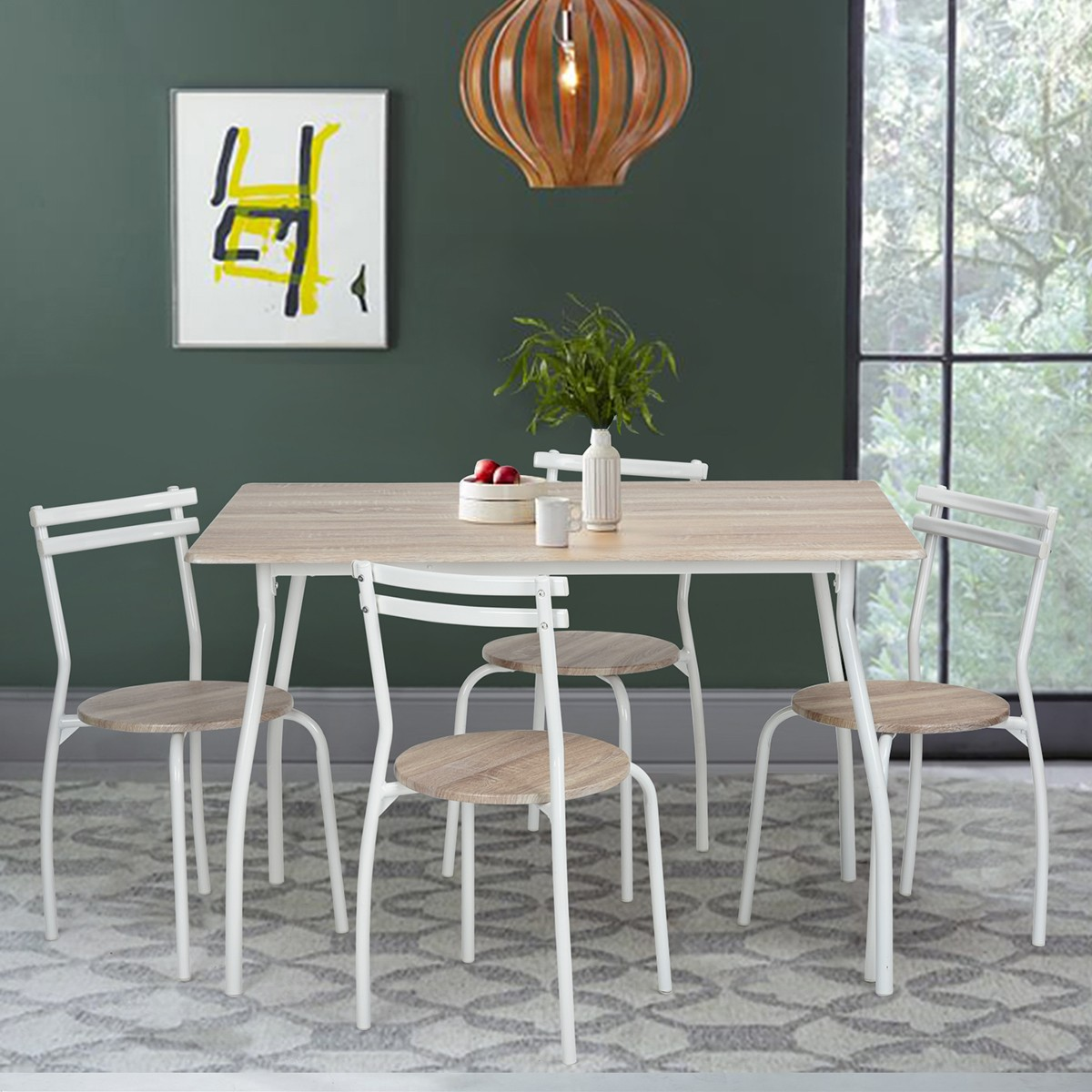 Ensemble table et 4 chaises ergone for Ensemble table de cuisine et 4 chaises