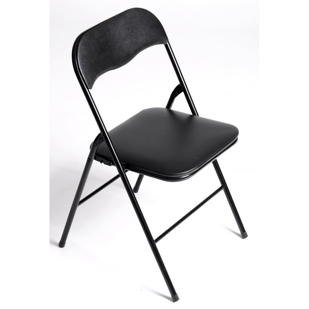 ensemble table et 4 chaises pliables s te d cor noir. Black Bedroom Furniture Sets. Home Design Ideas