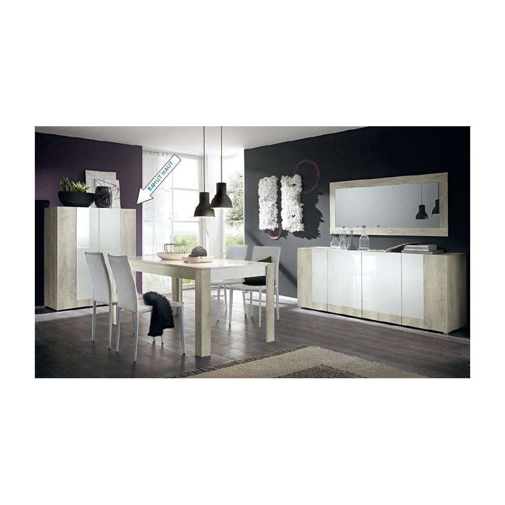bahut laqu blanc haut mars open meuble. Black Bedroom Furniture Sets. Home Design Ideas