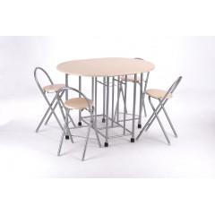 Ensemble Table et 4 chaises FUTUNA