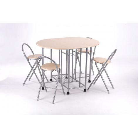Ensemble Cuisine Table et 4 chaises FUTUNA