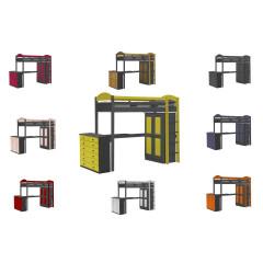 Lit superposés  et armoire  Pin massif Graphite +11 coloris