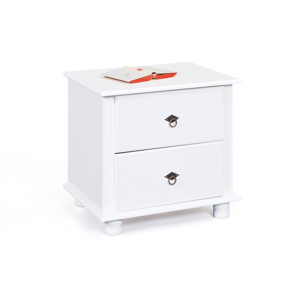 chevets blanc. Black Bedroom Furniture Sets. Home Design Ideas
