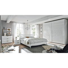 chambre a coucher complète moderne blanche prix promo