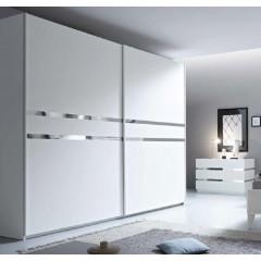 Armoire coulissante blanche XAR IV 220cm