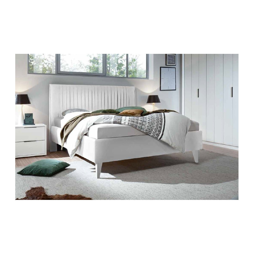 lit moderne blanc 160 et 180 x 200 prix exceptionnel. Black Bedroom Furniture Sets. Home Design Ideas