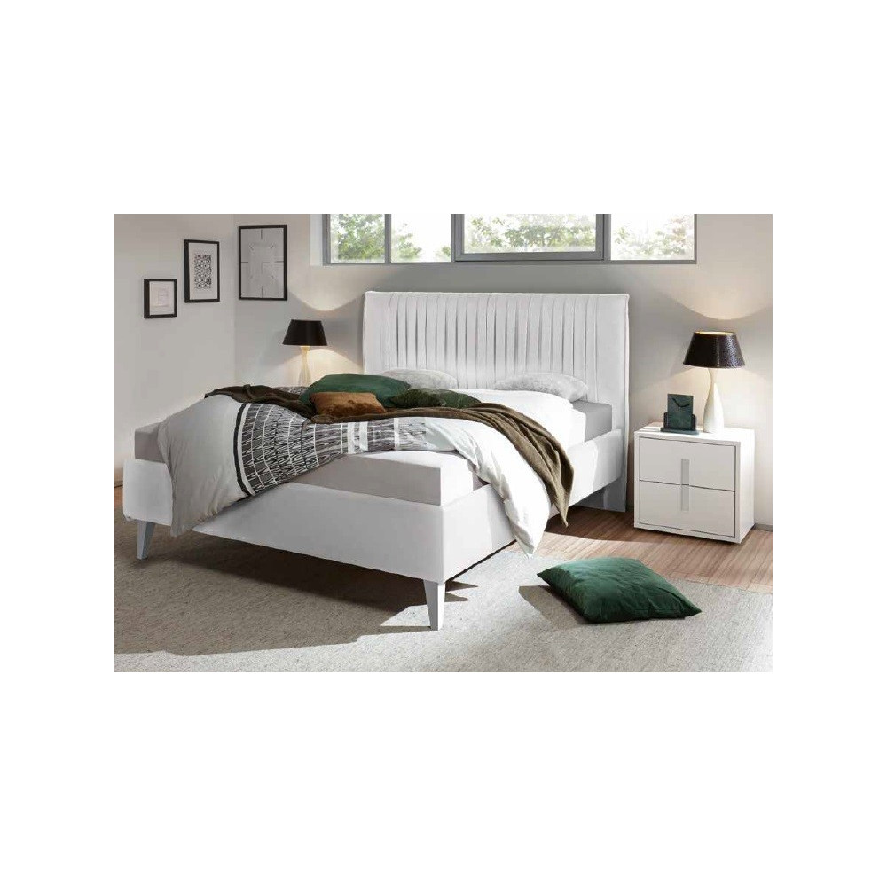 lit moderne blanc 160 et 180 x 200 prix exceptionnel. Black Bedroom Furniture Sets. Home Design Ideas