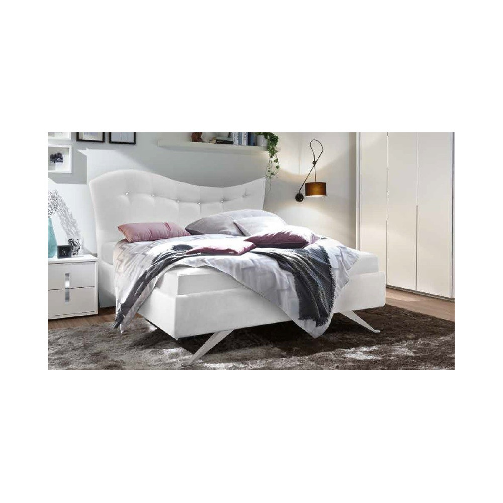 lit moderne pugalb e blanc 160 et 180 x 200 prix exceptionnel. Black Bedroom Furniture Sets. Home Design Ideas