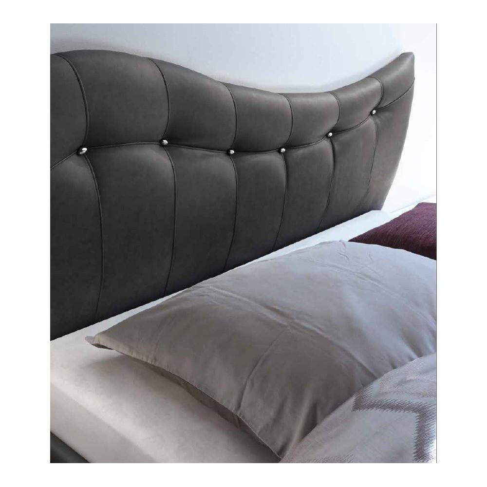 Lit moderne pugalb e gris 160 et 180 x 200 prix exceptionnel - Tete de lit 180 cm design ...