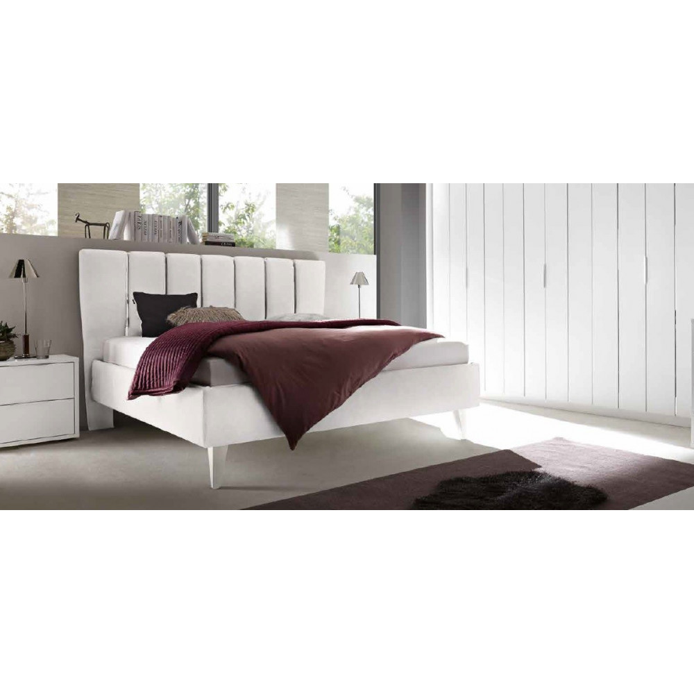 lit moderne pu p tales blanc 160 et 180 x 200 prix exceptionnel. Black Bedroom Furniture Sets. Home Design Ideas