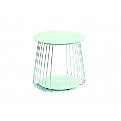 RIVA Table basse design de salon verre Blanc et chromes.