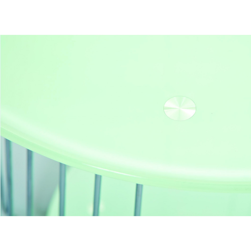 Table basse design de salon verre blanc et chrome - Table basse salon verre ...