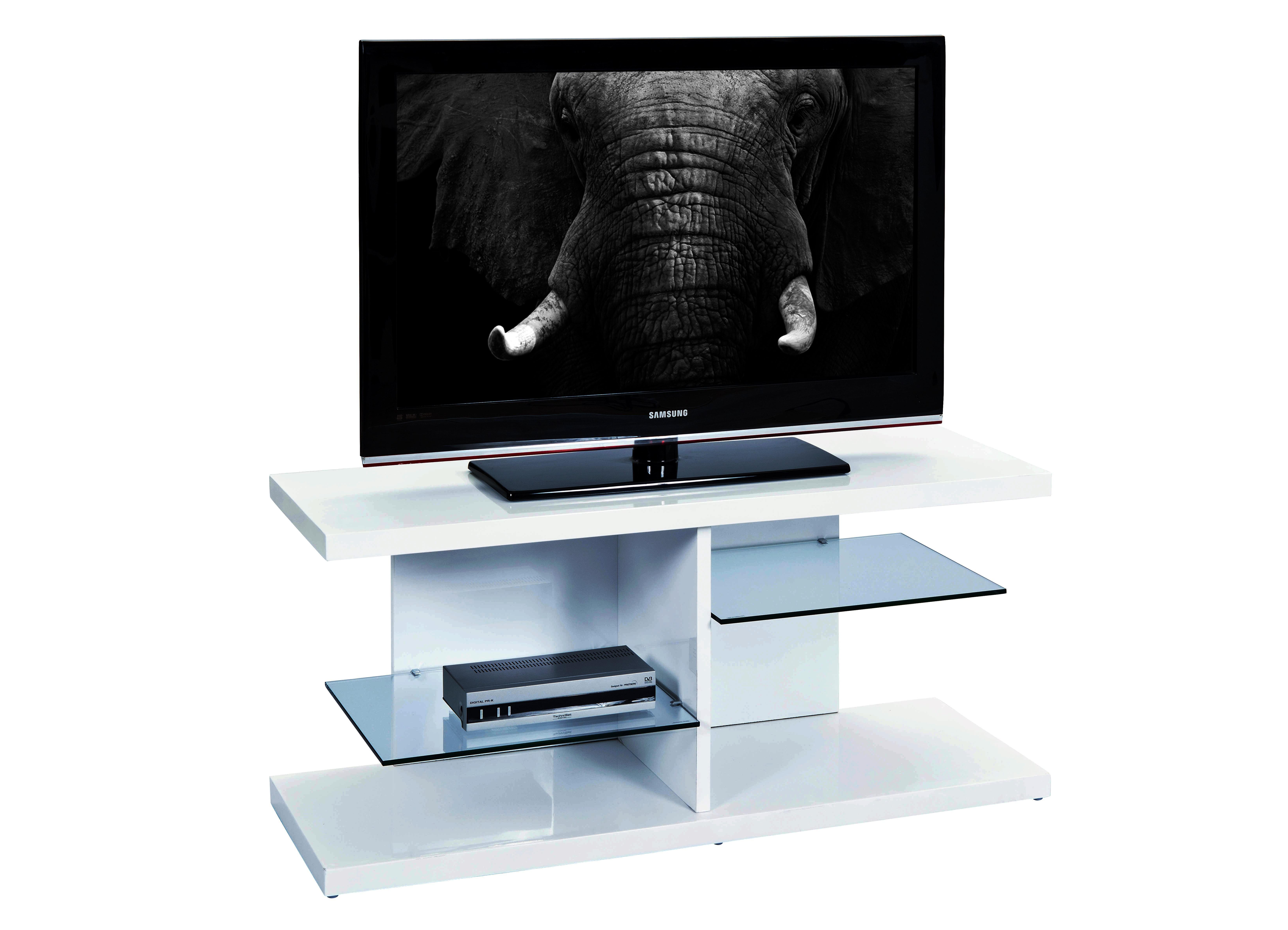 Meuble T L Vision Design Blanc Prix Discount Qualit Italienne # Meuble Tv En Verre