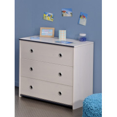 Commode JUNIOR moderne 3 Tiroirs