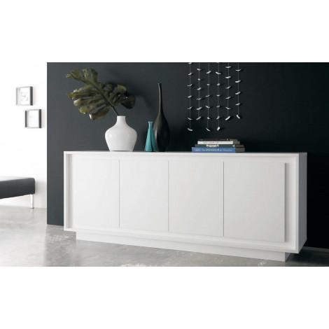 Bahut laqué blanc 4 portes design