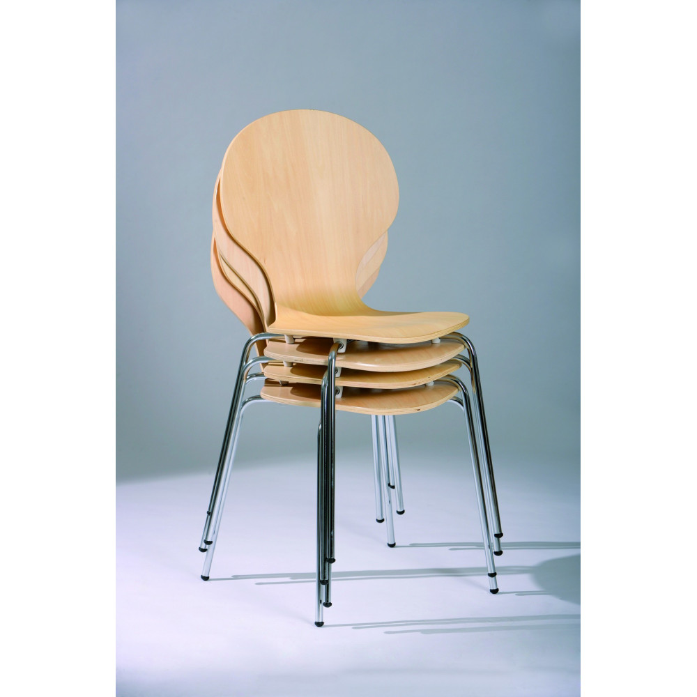 lot de 4 chaises formici naturelles. Black Bedroom Furniture Sets. Home Design Ideas
