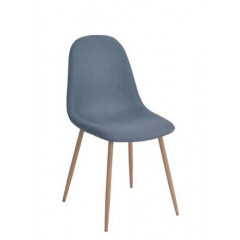 Chaise Charleston tissu bleu ( lot de 4)