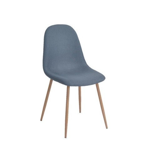 lot de 4 chaises scandinave tissu coloris bleu. Black Bedroom Furniture Sets. Home Design Ideas