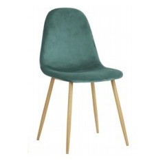 Chaise Charleston velours aqua ( lot de 4)