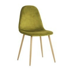 Chaise Charleston velours lime ( lot de 4)