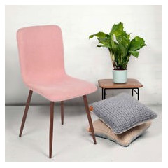 Chaise Gill rose( lot de 4)