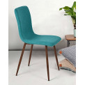 Chaise Gill turquoise( lot de 4)