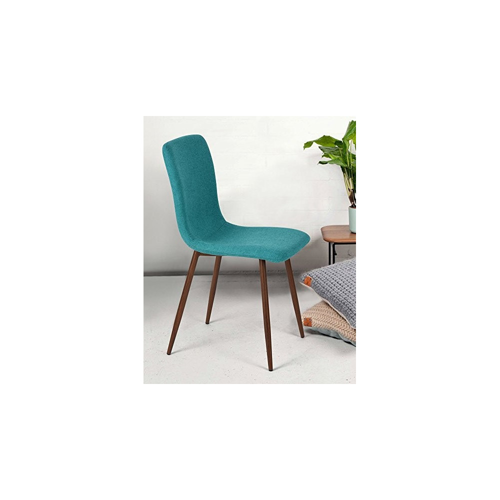 lot de 4 chaises scandinave tissu velours turquoise. Black Bedroom Furniture Sets. Home Design Ideas