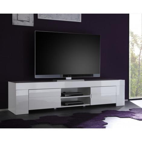 Meuble TV AURORE Long  blanc