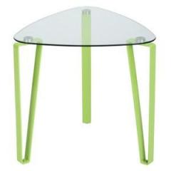 Table d'appoint verre et métal vert lime STOKY