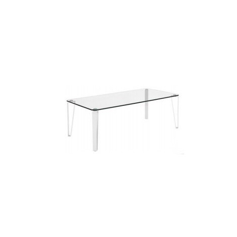 Table basse  verre et métal blanc RHODES
