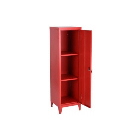 armoire industrielle metal rouge 1 porte 2 tag res. Black Bedroom Furniture Sets. Home Design Ideas