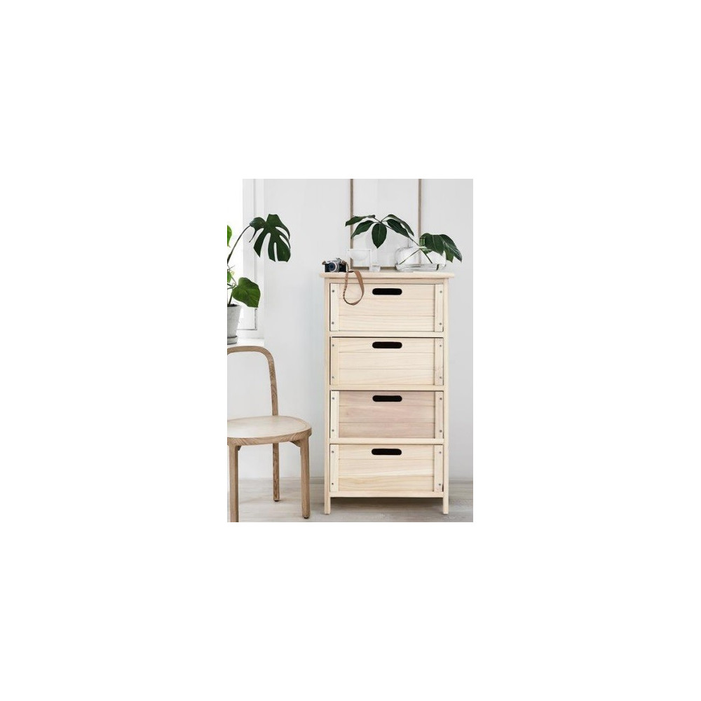 meuble de rangement en bois 4 tiroirs. Black Bedroom Furniture Sets. Home Design Ideas