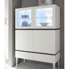Bahut vaisselier design 3 portes 3 tiroirs blanc