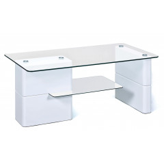 Table basse design de salon Blanche ADRIAN
