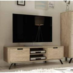 Meuble TV SYRACUSE 2 Portes 1 Niche chêne