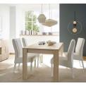 DAMASCUS Table à diner en laque blanche