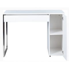 SLAVIC bureau blanc et chrome