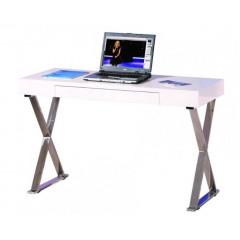 GRACIA bureau blanc et chrome