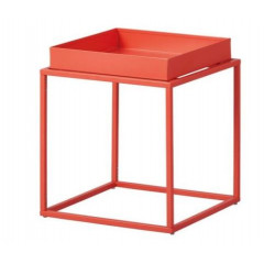 CUBIX table d'appoint carré ou rectangulaire orange
