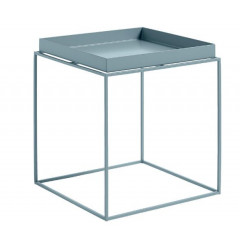 CUBIX table d'appoint carré ou rectangulaire grise