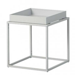 CUBIX table d'appoint carré ou rectangulaire blanche