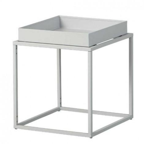 CUBIX table d'appoint carré ou rectangulaire blanche