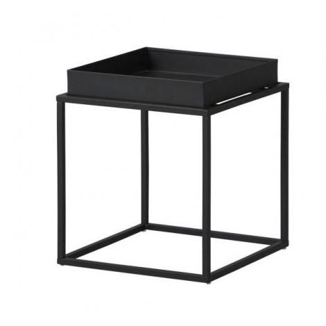 CUBIX table d'appoint carré ou rectangulaire noire