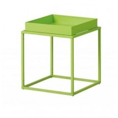 CUBIX table d'appoint carré ou rectangulaire verte