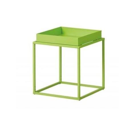 CUBIX table d'appoint carré ou rectangulaire verte