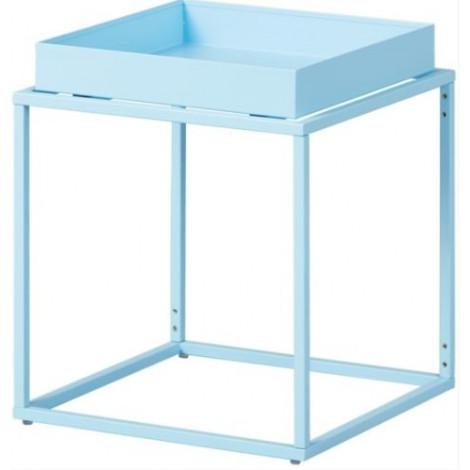 CUBIX table d'appoint carré ou rectangulaire bleue