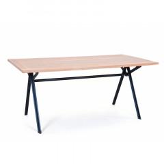 CELLULAR table bois et métal noir