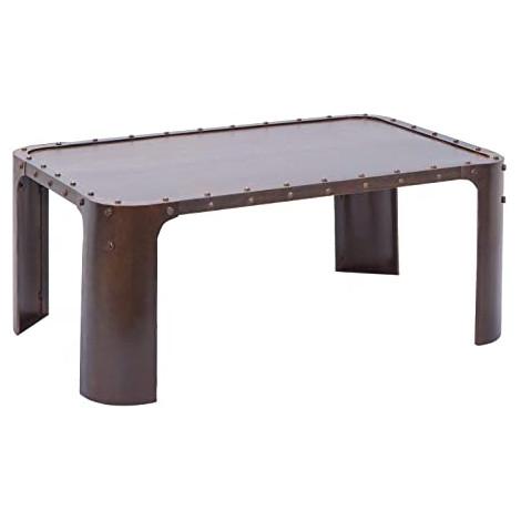 table basse metal aviateur