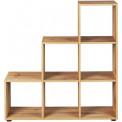 Cubes d'aménagement et décoration 9 cases Acacia et blanc